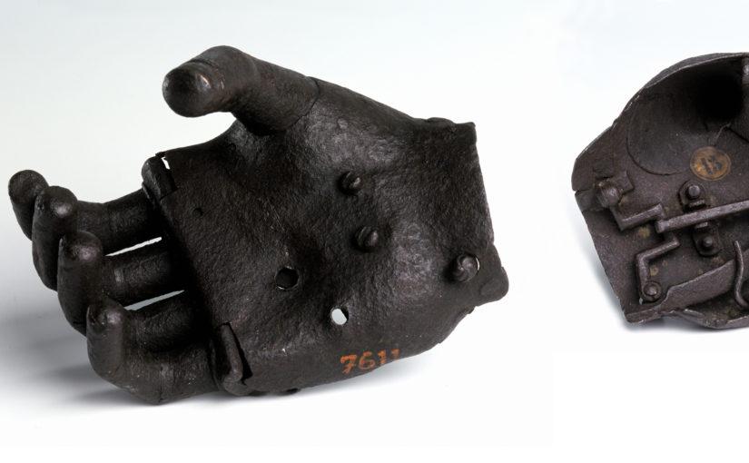 An iron hand for a master gunner injured in the Burgundian wars